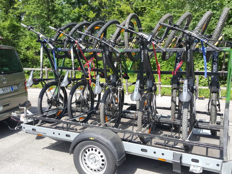trasporto biciclette taxi bike shuttle fahrrad transport bicycle mtb e-bike tour