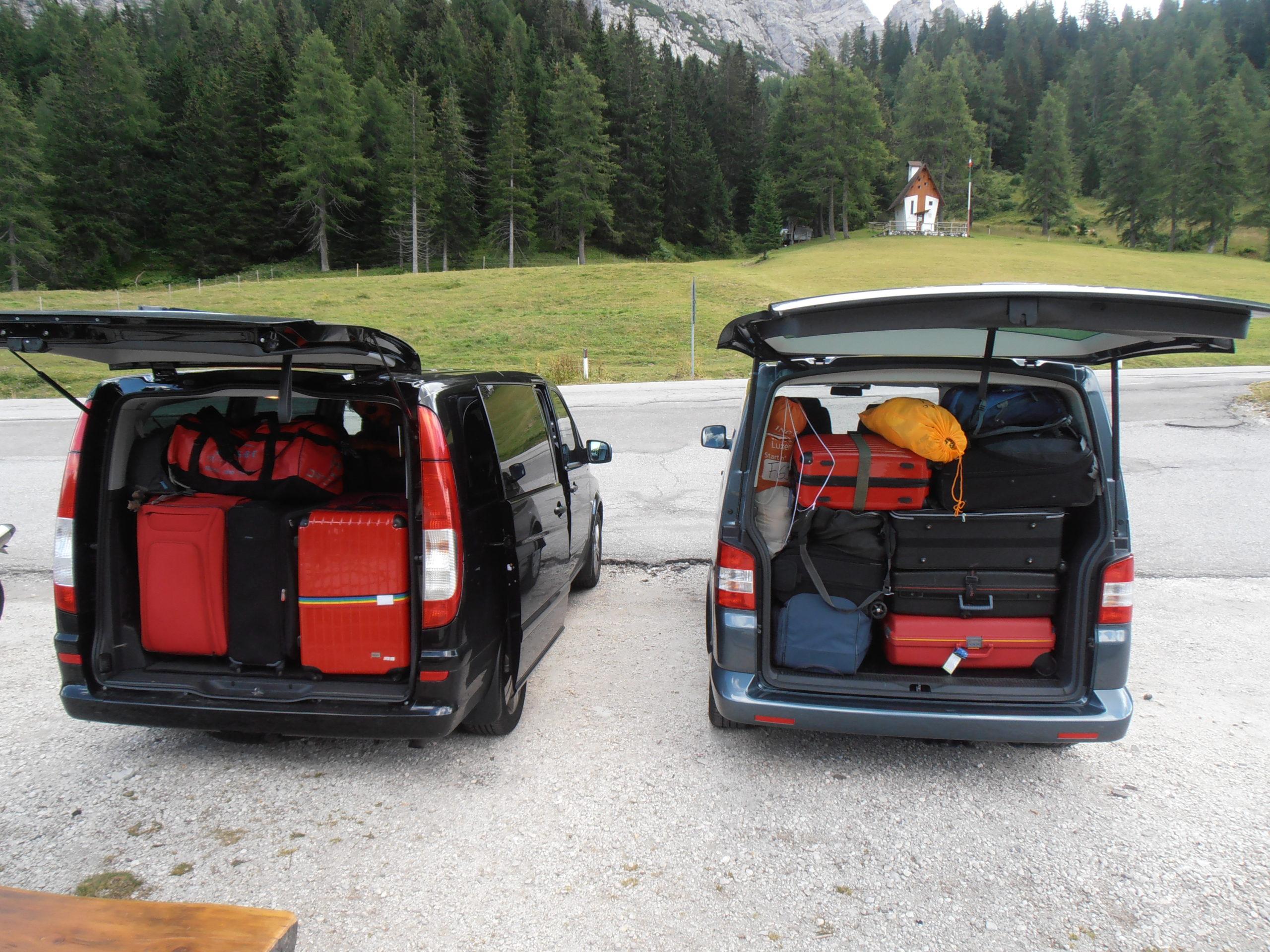 trasporto persone bagagli alta via 7 personengepäck transportieren AV7