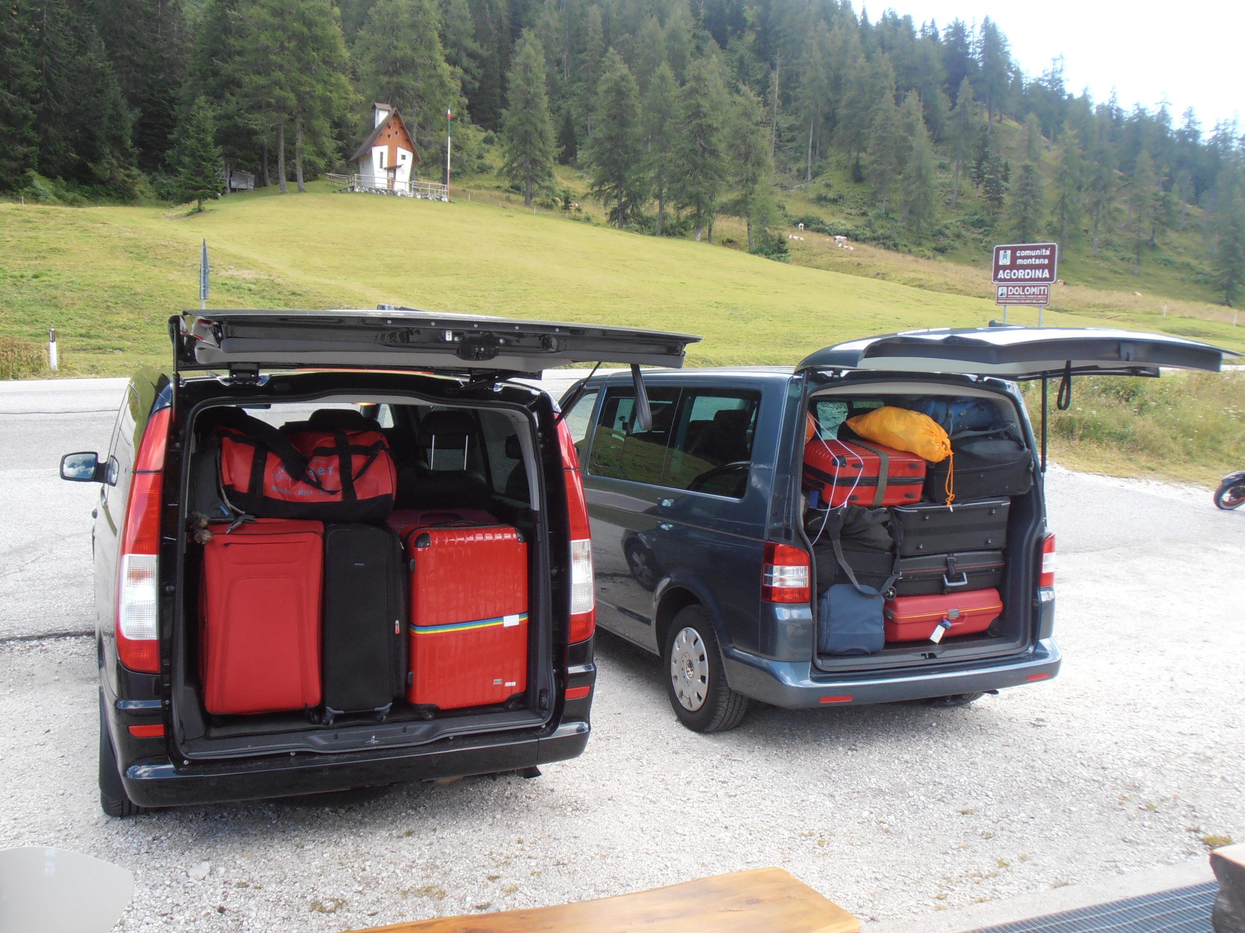 trasporto persone bagagli alta via 6 personengepäck transportieren av6